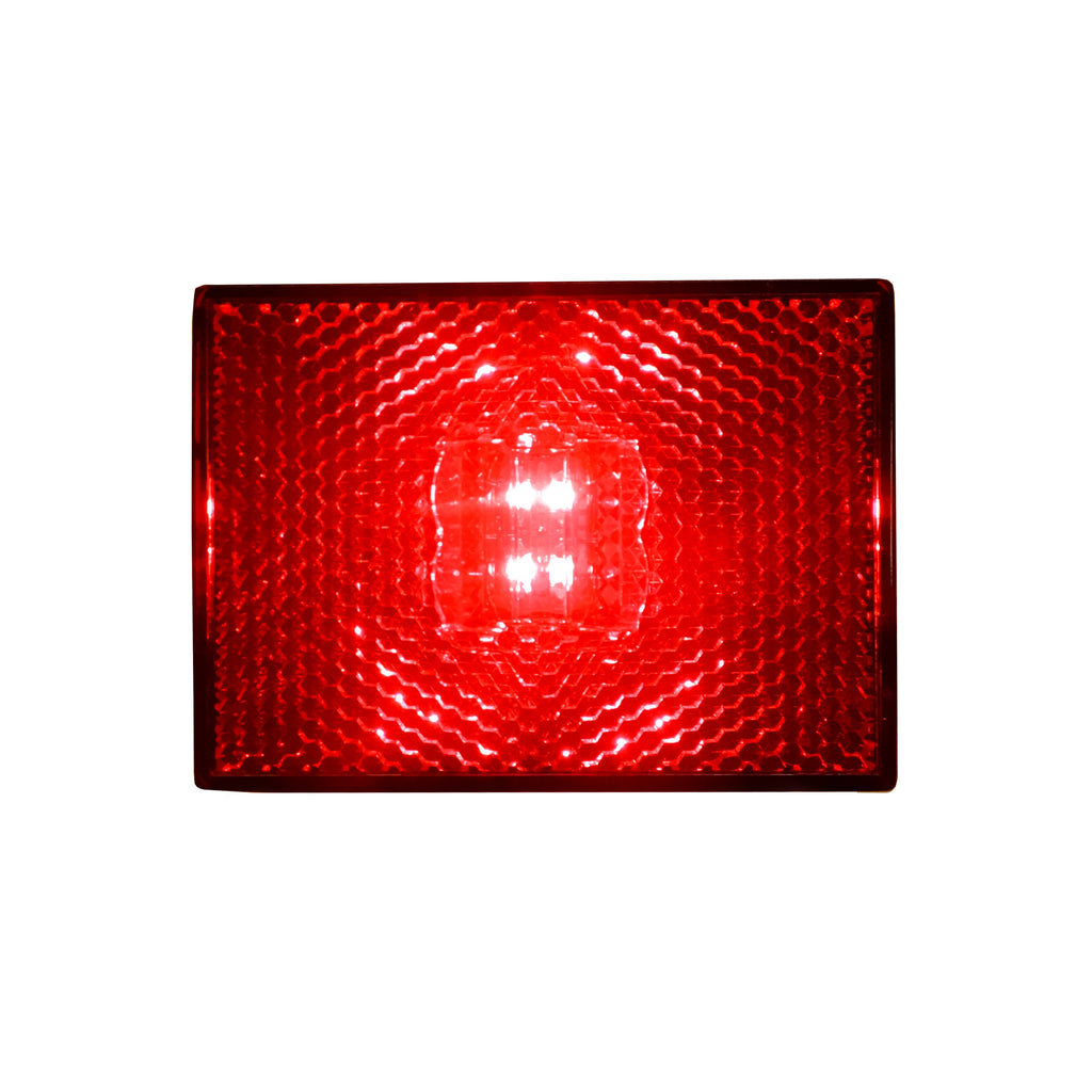 Square LED Stud Mount Clearance / Marker Light Red