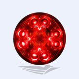 "4"" Round LED Stop Turn Tail and Backup Light"