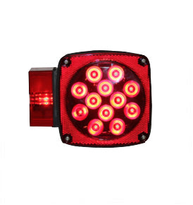 Square Combination LED Tail Light - Left Side