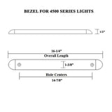 Tail Light Bar Bracket Bezel Chrome