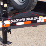 "Decal, Snake River Trailer - 3"" x 23"" White"