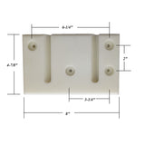 Divider Slam Latch Catch Plate - Fits Some Circle J Horse Trailers