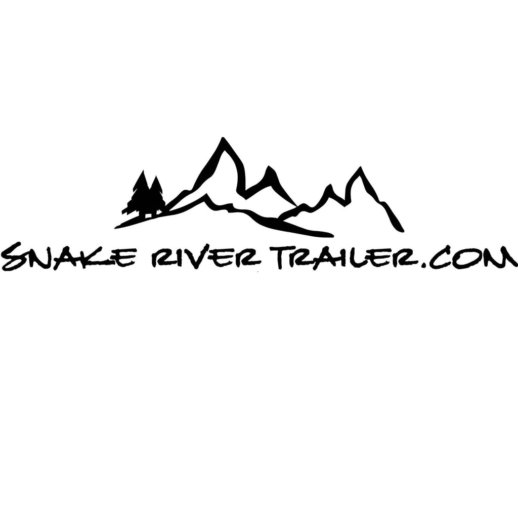 "Decal, Snake River Trailer - 8"" x 16"" White"