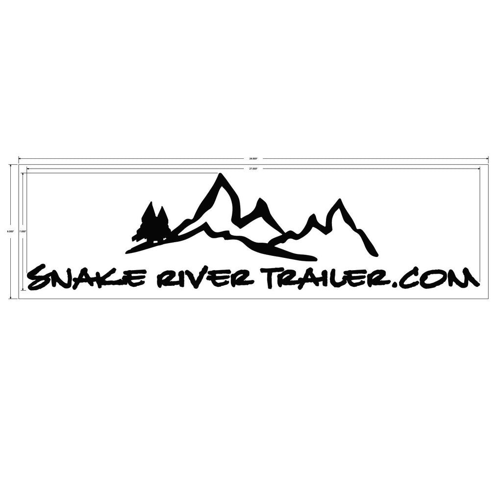 "Decal, Snake River Trailer - 7"" x 27"" White"