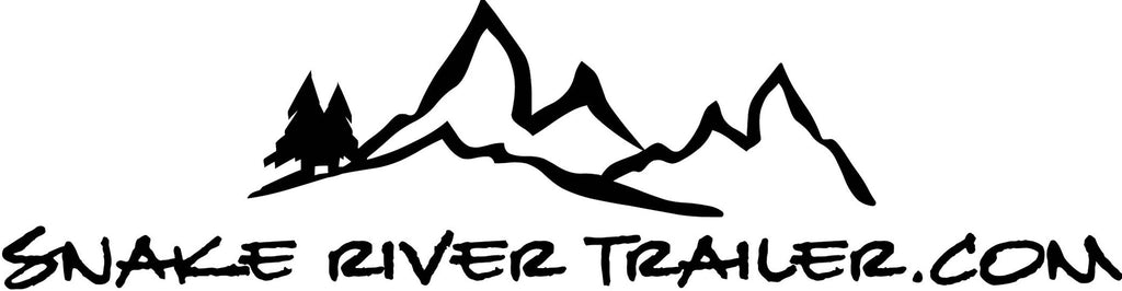 "Decal, Snake River Trailer - 8"" x 16"" Black"
