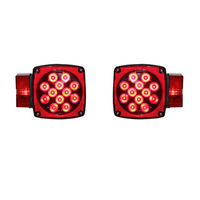 Square Combination LED Tail Light - SET