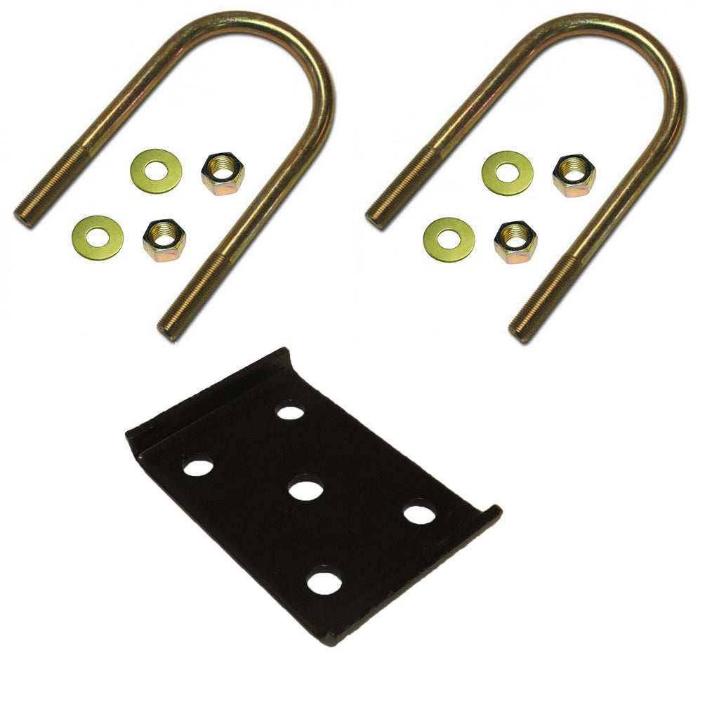 "U-Bolt Kit for Mounting a 2"" Spring on a 5,200 lb to 7,000 lb, 3"" Round Trailer Axle - Upgraded"