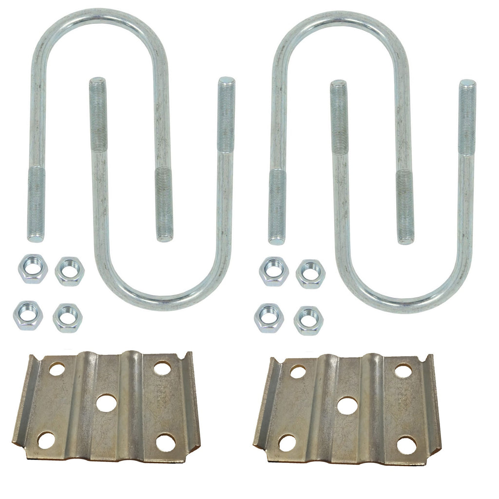 "U-Bolt Kit for Mounting a Set of 2"" Springs on a 5,200 lb to 7,000 lb, 3"" Round Trailer Axle - Basic"