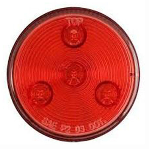 "Clearance/Marker Light, 2-1/2"" Round LED - RED (3 Diodes)"