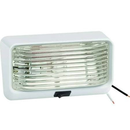 rectangular surface mount porch light with built in switch