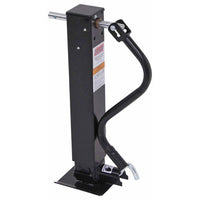 Jack, Square 10,000 lb. Side Wind with Adjustable Spring Loaded Drop Leg (Side Pull) - Direct Weld