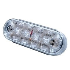"Light Only, 6"" Oval LED Clear Back Up (10 Diodes)"