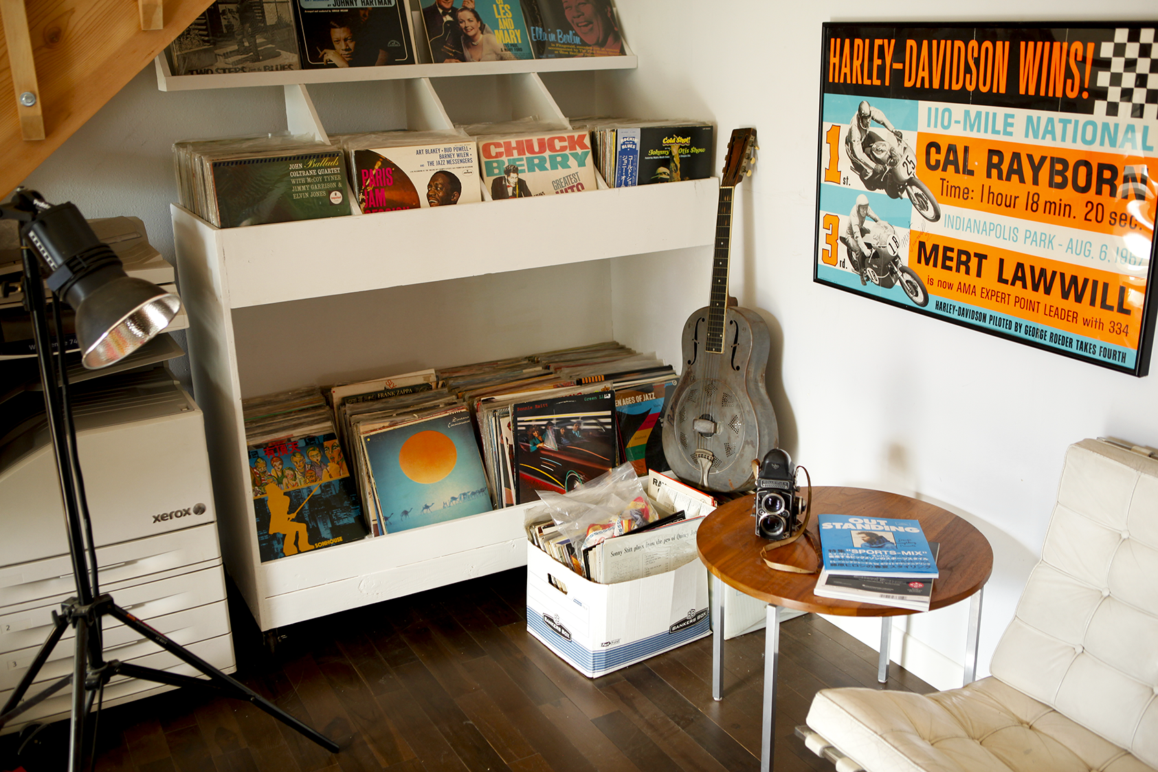 records & guitar