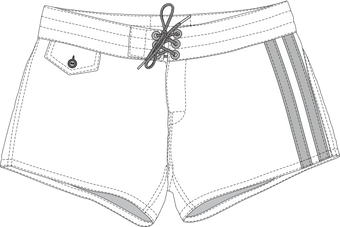 Women's 402 Board ShortsLeg Stripes