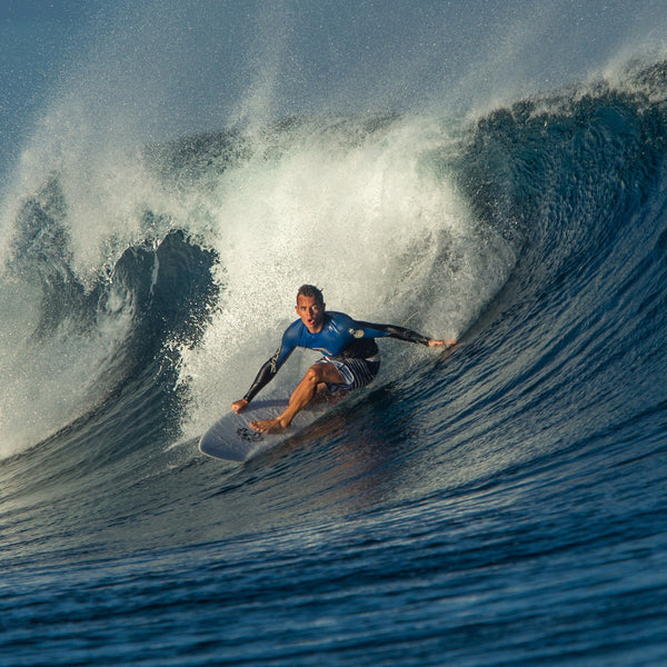 Chase Williams surfing