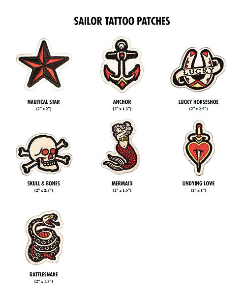 Sailor tattoo patches preview