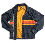 Mens Limited-Edition 3 Stripe Competition Jacket - Navy & Gold / Paprika