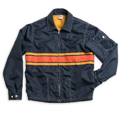Men's Limited-Edition 3 Stripe Competition Jacket - Navy & Gold / Paprika