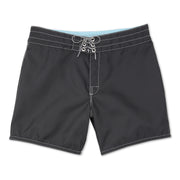 310BoardShorts_MENS_BOARDSHORTS-CLASSIC_BLACK_MA3310-002 Flat Lay Front View