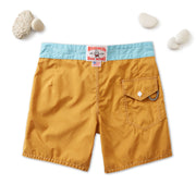 310 Stone-Washed Gold Coast Board Shorts - Gold & Light Blue