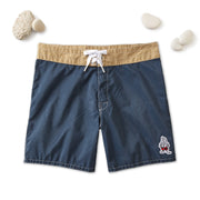 310 Stone-Washed Tamarindo Board Shorts - Navy & Tan