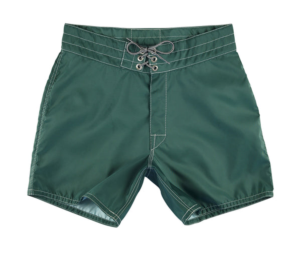 310 Dark Green Board Shorts - Front