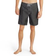 311BoardShorts_MENS_BOARDSHORTS-CLASSIC_BLACK_MA3311 On Model Front View