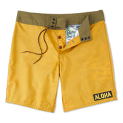 311LimitedEditionAlohaBoardShorts-Mens-gold-MA3311 Flat Lay Front View