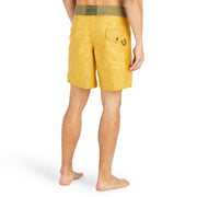 311LimitedEditionAlohaBoardShorts-Mens-gold-MA3311 On Model  Back View