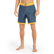 311Limited-EditionGoldTips_MENS_BOARDSHORTS_NavyGold_MA3311 On Model Front View