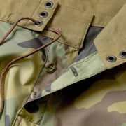 311Limited-EditionTropicalMissionBoardShorts_MENS_BOARDSHORTS_WoodlandCamo_MA3311 Close Up Fly View
