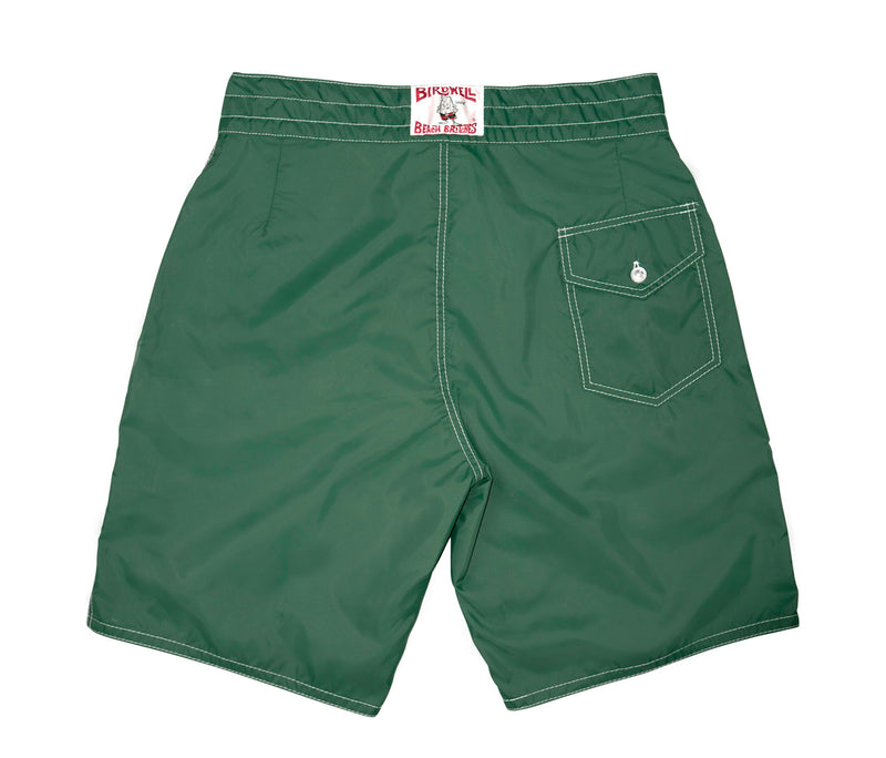 312 Dark Green Board Shorts - Back