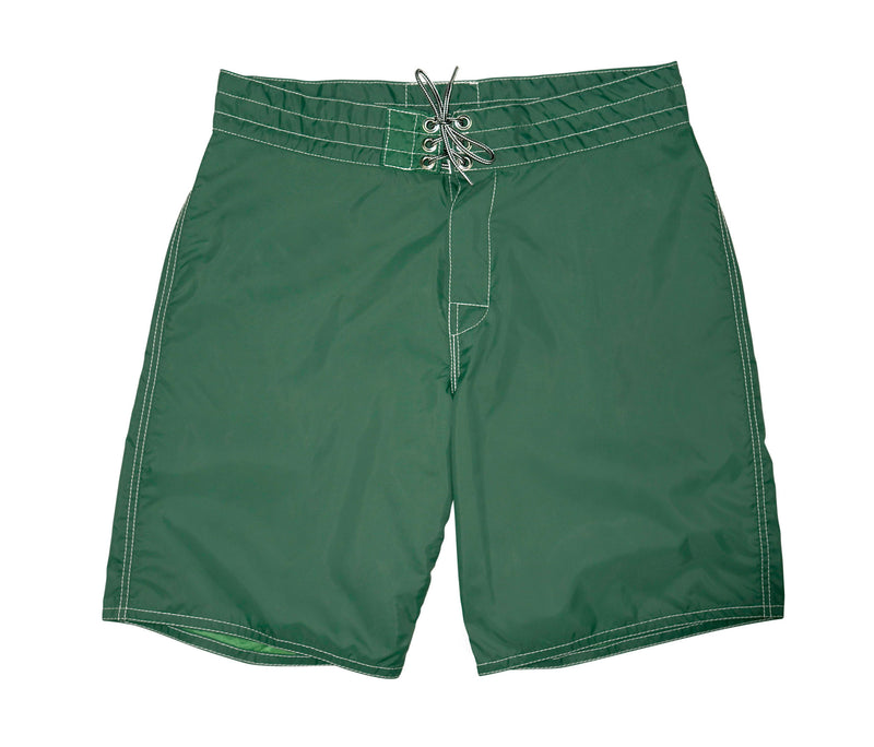 312 Dark Green Board Shorts - Front