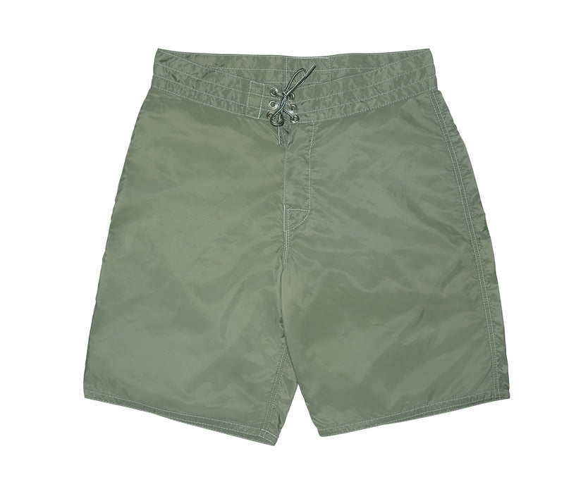 patches-front 312 Olive Board Shorts - Front