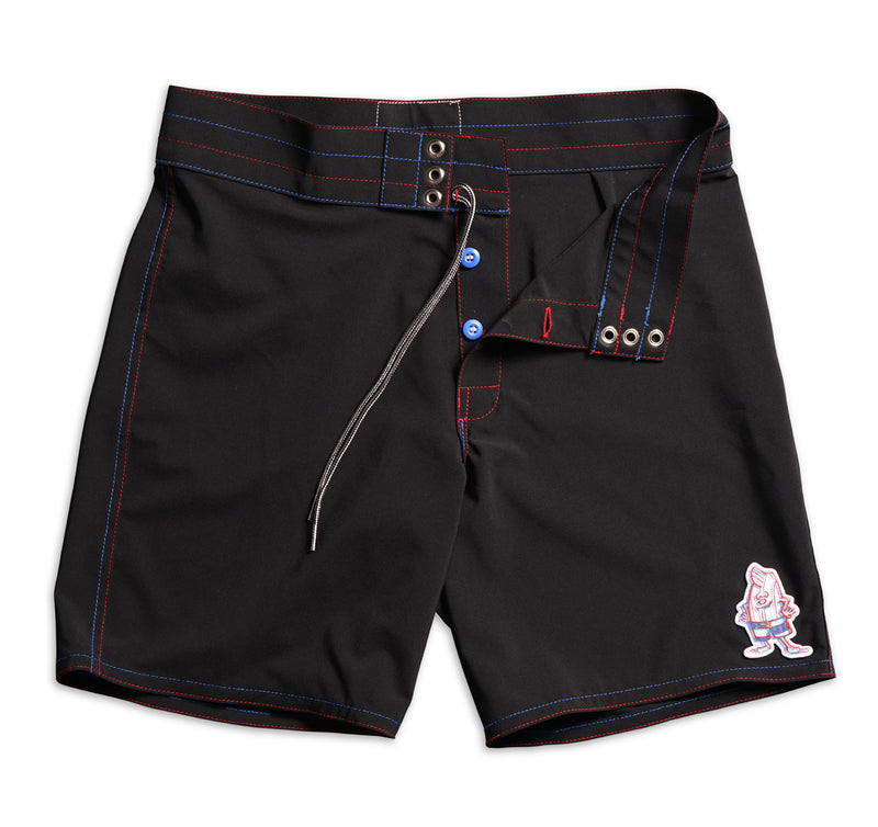 808 Limited-Edition 3D Birdie Board Shorts - Black & Red / Royal