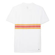 3StripeCompTShirt_MENS_T-SHIRT_WHITE_PAPRIKAGOLD_MA1018 Flat Lay Front View
