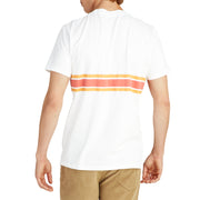 3StripeCompTShirt_MENS_T-SHIRT_WHITE_PAPRIKAGOLD_MA1018 On Model Back View