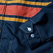 3StripeCompetitionJacket_Mens_Outerwear_NavyPaprikaGold_up_close_sleeve