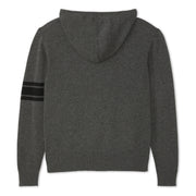 3stripeMerinoBlendHoodie_MENS_OUTERWEAR_CHARCOAL_BLACK_MA6009 flat lay back view