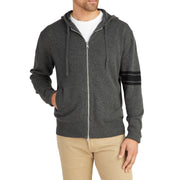 3stripeMerinoBlendHoodie_MENS_OUTERWEAR_CHARCOAL_BLACK_MA6009 on model front view