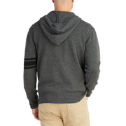 3stripeMerinoBlendHoodie_MENS_OUTERWEAR_CHARCOAL_BLACK_MA6009 on model back view
