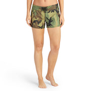 402BoardShorts_WOMENS_BOARDSHORTS-CLASSIC_CAMO_WA3402 On Model Front View