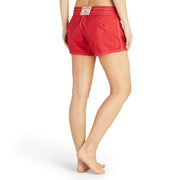 402BoardShorts_WOMENS_BOARDSHORTS-CLASSIC_RED_WA3402 On Model Back View