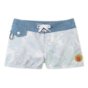 402LEMonstera_Womens_Boardshorts_White_flat_lay_front