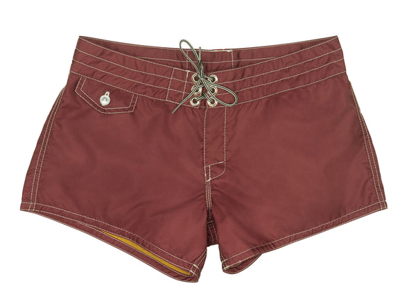 402 Burgundy Board Shorts - Front