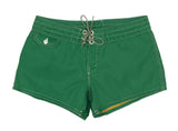 402 Dark Green Board Shorts - Front