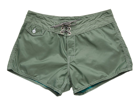 402 Olive Board Shorts - Front