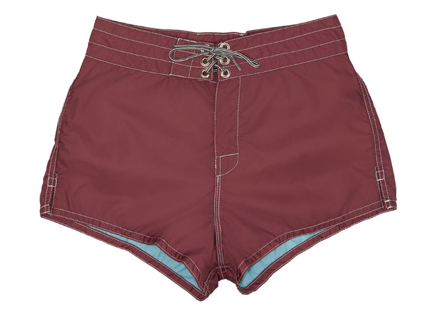 403 Burgundy Board Shorts - Front