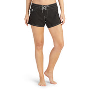 404BoardShorts_WOMENS_BOARDSHORTS-CLASSIC_BLACK_WA3404 On Model Front View
