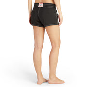 404BoardShorts_WOMENS_BOARDSHORTS-CLASSIC_BLACK_WA3404 On Model Back View